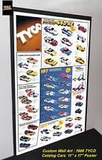 Custom TYCO Wall Art - TYCO 1986 CATALOG Cars  11W x 17T Hi QA POSTER