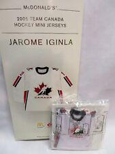 JAROME IGINLA, 2006 Team Canada McDonald's Olympic Hockey Mini Jersey