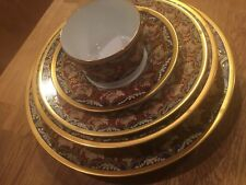 Christian Dior Fine China TABRIZ Gold 5-Piece Place Setting Plate Bowl Teacup+