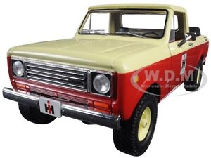 1979 INTERNATIONAL SCOUT TERRA PICKUP TRUCK IH RED 1/25 BY FIRST GEAR 40-0318