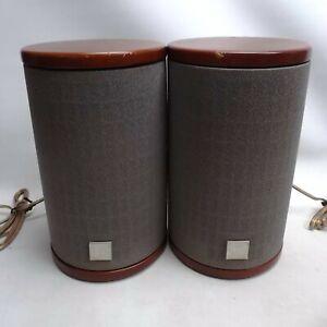 JVC SP-FSSD9 Cylindrical Wooden Bookshelf 20W 4 Ohm Speakers Working inc UK P+P