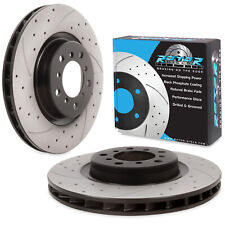 FRONT DRILLED GROOVED 325mm BRAKE DISC PAIR FOR BMW 3 SERIES E46 M3 3.2 00-06