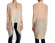 $248 Eileen Fisher Long Dolman Sleeve Cardigan Medium 10 12 Pale Peach GORGEOUS