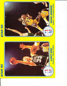 """1985 Star NBA card set 1-25 4/6"""" Magic Johnson NBA6"""