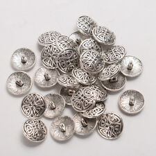 30 PCS  Coat Sewing Craft DIY 17MM Antique Silver Metal Knot Shank Buttons