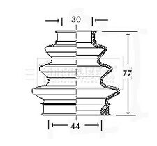 Borg & Beck Driveshaft Bellow CV Joint Boot Kit BCB2349 - 5 YEAR WARRANTY
