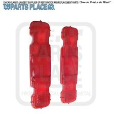 1970-72 Monte Carlo Rear Red Tail Light Lamp Lenses - Pair