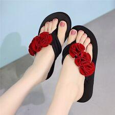 Chancletas de Mujer Moda Sandalias con Rosas de Verano de Playa Antideslizante