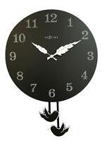 Reloj péndulo Negro de pared con wingbirg redonda Nextime Cocina