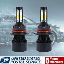 4-Side Super Bright 9007 HB5 LED Headlight Bulbs Canbus Error Free Hi/Low Beam