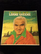 LORNE GREENE UNUSED EASEL BACK COUNTER DISPLAY-PORTRAIT OF THE WEST-1966