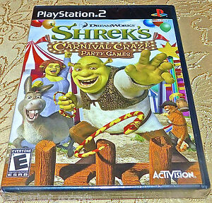 DREAMWORKS: SHREK'S CARNIVAL CRAZE PARTY GAMES PLAYSTATION 2 PS2 NEW RARE