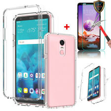 For LG Stylo 4 / Q Stylus/ Stylo 4+ Slim Transparent Case Cover+Tempered Glass
