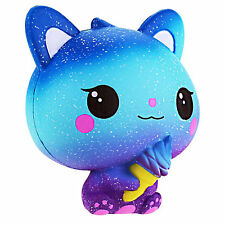 Jumbo Ice Cream Cat Slow Rising Stress Relief Galaxy Squishy Kawaii Qute Toys