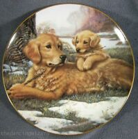 Golden Moments Collector Plate Sporting Generation Jim Lamb Dogs Puppy