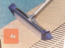 (4) Premium 20'' inch Aluminum Swimming Pool Brush Head Nylon Bristles Not 18''