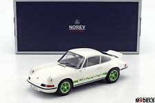 PORSCHE 911 RS TOURING 1973 Bianco/Verde White/Green Norev 187636 Die Cast 1/18