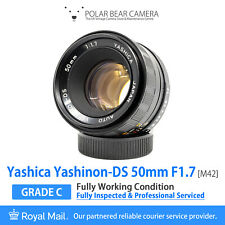 ⭐SERVICED⭐ YASHICA 50mm F1.7 Yashinon-DS M42 Prime + Cap [FULLY WORKING]