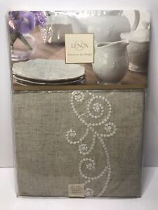 """Lenox American By Design French Perle 52""""X 70"""" Oblong New"""