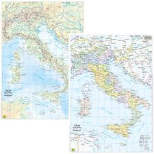 ITALIA CARTINA DA BANCO [BI-FACCIALE - 29,7X42 CM] [CARTA/MAPPA/POSTER] BELLETTI