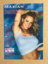 More details for mariah carey original vintage promotional hmv flyer
