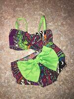Cheekz Dancewear Two Piece Set Size Child Small (4-6)