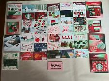 """Starbucks gift card 2020 """"CHRISTMAS SERIES"""" 50 CARDS~ALL NEW~GREAT PRICE~NO $$"""