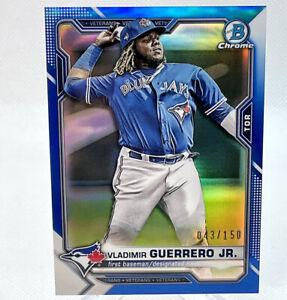 2021 Bowman Chrome Baseball Vladimir Guerrero Jr #/150 True Blue Refractor #10