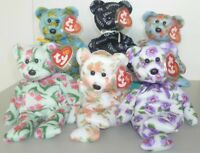 """TY Beanie Babies ASIA PACIFIC 2004 Exclusive 6 Bear Set 8"""" 20cm Rare Hannah +5"""