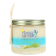 Florida Salt Scrubs Lemongrass Body Feet Hands Bath Salt Scrub 24.2 oz Large Jar