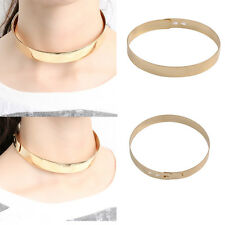 Bib Pendant Gold Chain Choker Collar Punk Necklace Jewelry