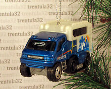 MOUNTAIN RESCUE AMBULANCE HALF TRACK VEHICLE BLUE CHRISTMAS TREE ORNAMENT XMAS