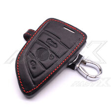 Leather Key Cover Chain Fob Case for BMW X1 X5 X6 5 Series 7 Series 2 Buttons