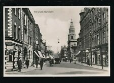 Worcestershire Worcs WORCESTER The Cross street scene c1920/30s? RP PPC