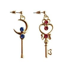 Anime Sailor Moon Time Key Moon Stick Earrings Cosplay Jewelry