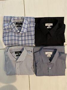 BLAQ Mens Business Slim Fit Shirts Size Large 42 X4