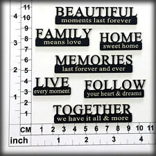 Chipboard Embellishments for Scrapbooking, Cardmaking - Scrap Words 326113b