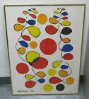 """Alexander Calder Plate Signed Color Lithograph 1970 W/ COA """"Copeaux de Spirale"""""""