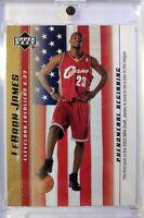2003-04 Upper Deck Phenomenal Beginning Gold LeBron James Rookie RC #20, Cavs
