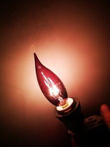 ABCO Decor LIGHT BULB 25W Incandescent 120V E12 SMOKE COLOR Flame Tip NEW 03382