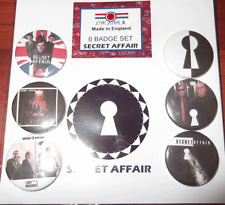 Secret Affair mod band 25mm Button Badge Set