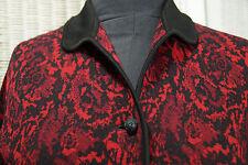 "WAGNER Vintage Cardigan Jumper M 38"" Bust ""Tapestry"" Roses Virgin Wool Sweater"