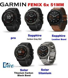 Garmin Fenix 6x /pro / sapphire/  Solar / titanium / leather all 51 mm models