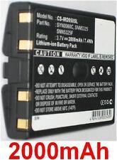 Batterie 2000mAh type SNN5325 SNN5325F SYN0060C Pour IRIDIUM 9500 9505