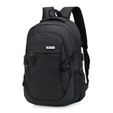 Mens Anti-Theft USB Charging Travel School Shoulder Laptop Backpack Notebook Bag
