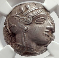 ATHENS Greece 440BC Ancient Silver Greek TETRADRACHM Coin Athena Owl NGC i63866