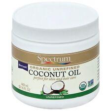 Spectrum Essentials Organic Unrefined Coconut Oil For Body - Hair 15 oz