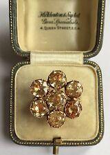 Topaz Cluster Ring Circa 1800's A Stunning Georgian 7ct Golden