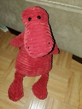 "Jellycat Red Corduroy Cordy Roy Dino Dinosaur Plush Stuffed 15"" alligator"