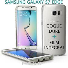 Coque transparente cristal dure samsung galaxy S7 edge + film integral entier